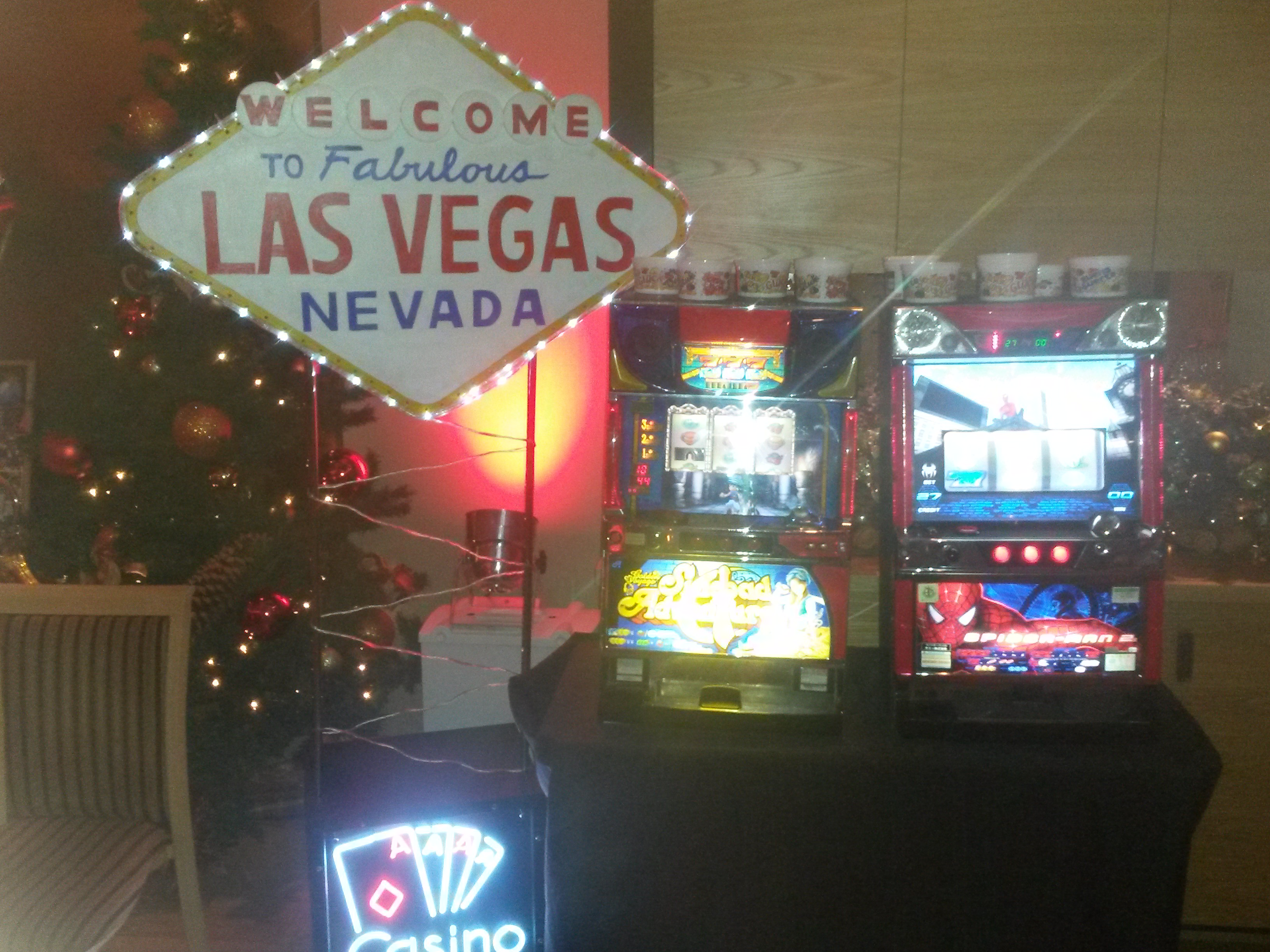 casino slot machine hire